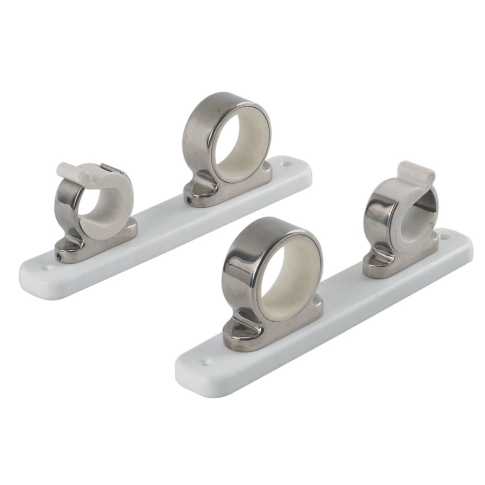 TACO 2-Rod Hanger w/Poly Rack - Polished Stainless Steel - F16-2751-1