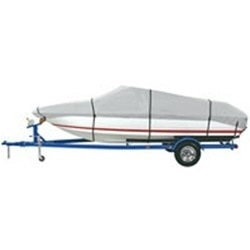 Dallas Manufacturing Co. Heavy Duty Polyester Boat Cover C - 14'-16' V-Hull Fishing Boats - Beam Width to 68
