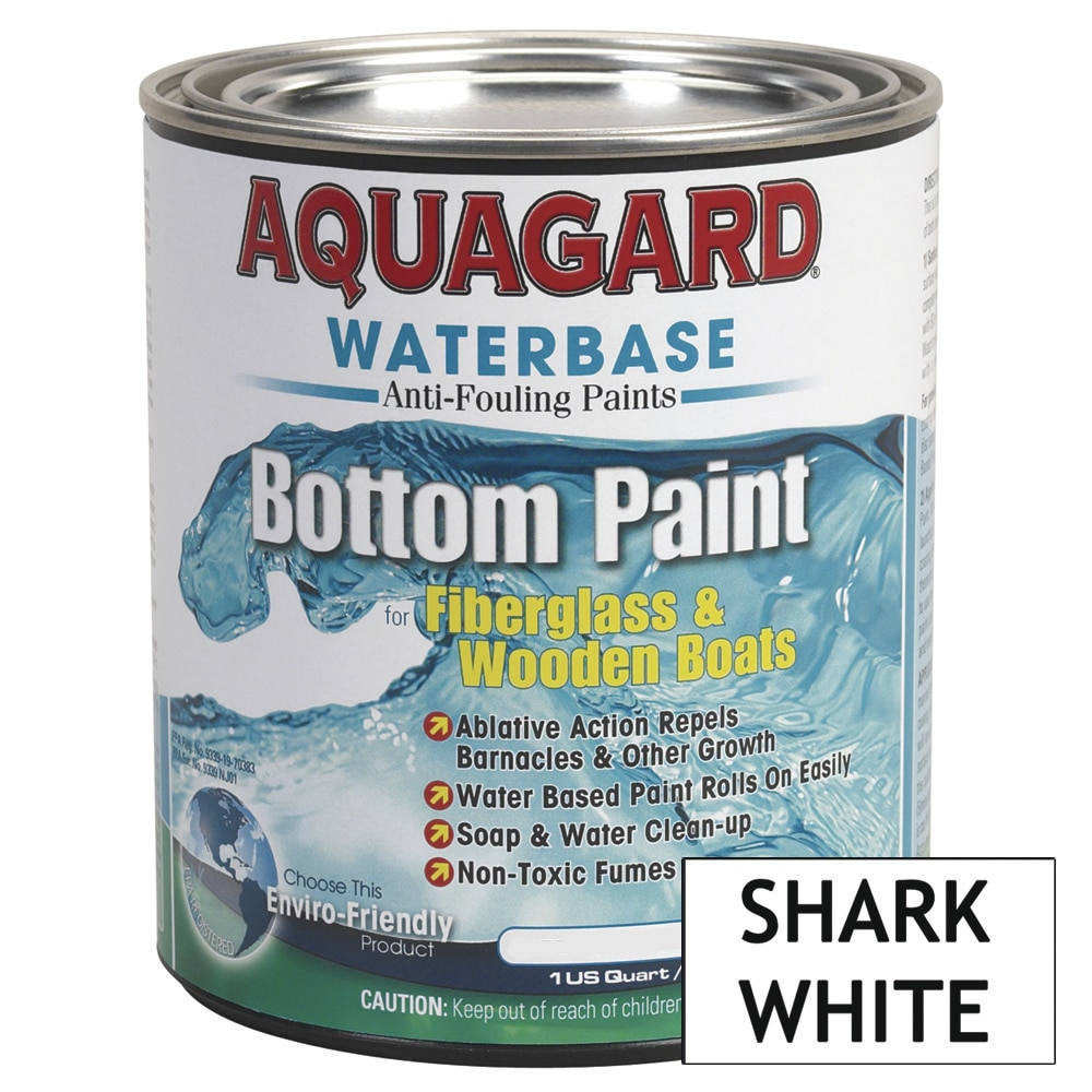 Aquagard Waterbased Anti-Fouling Bottom Paint - Quart - Shark White - 10007