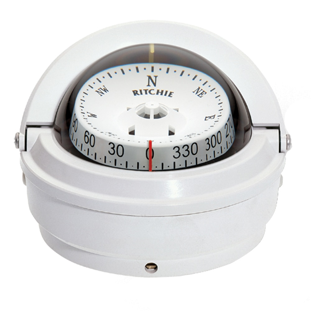 Ritchie S-87W Voyager Surface Mount Compass (White) - S-87W