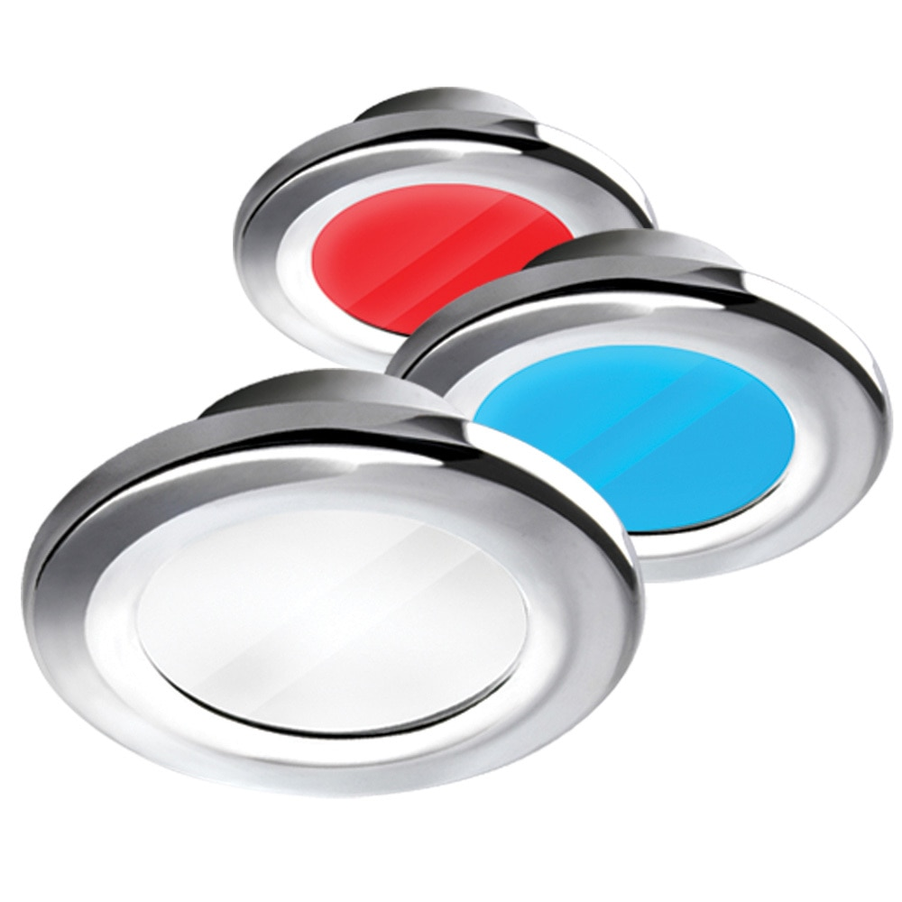 i2Systems Apeiron A3120 Screw Mount Light - Red, Cool White, Blue Light, Chrome Finish - A3120Z-11HAE