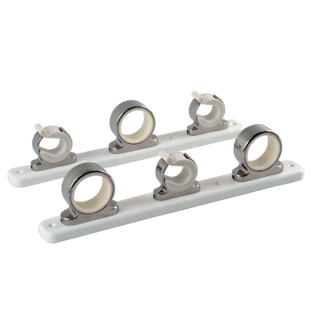 TACO 3-Rod Hanger w/Poly Rack - Polished Stainless Steel - F16-2753-1