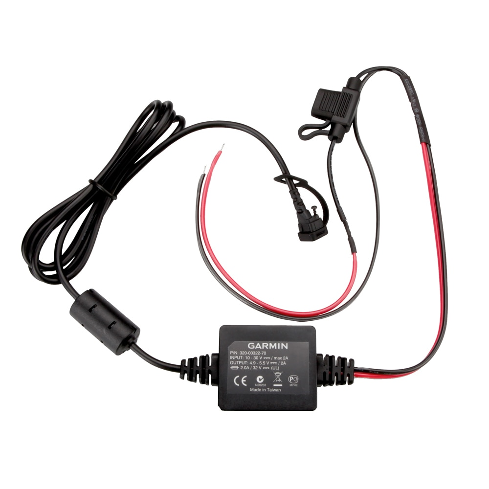 Garmin Motorcycle Power Cord f/zūmo® 350LM - 010-11843-01