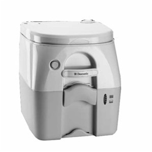 Dometic - SeaLand 975 Portable Toilet 5.0 Gallon - Gray with  Brackets - 301097506