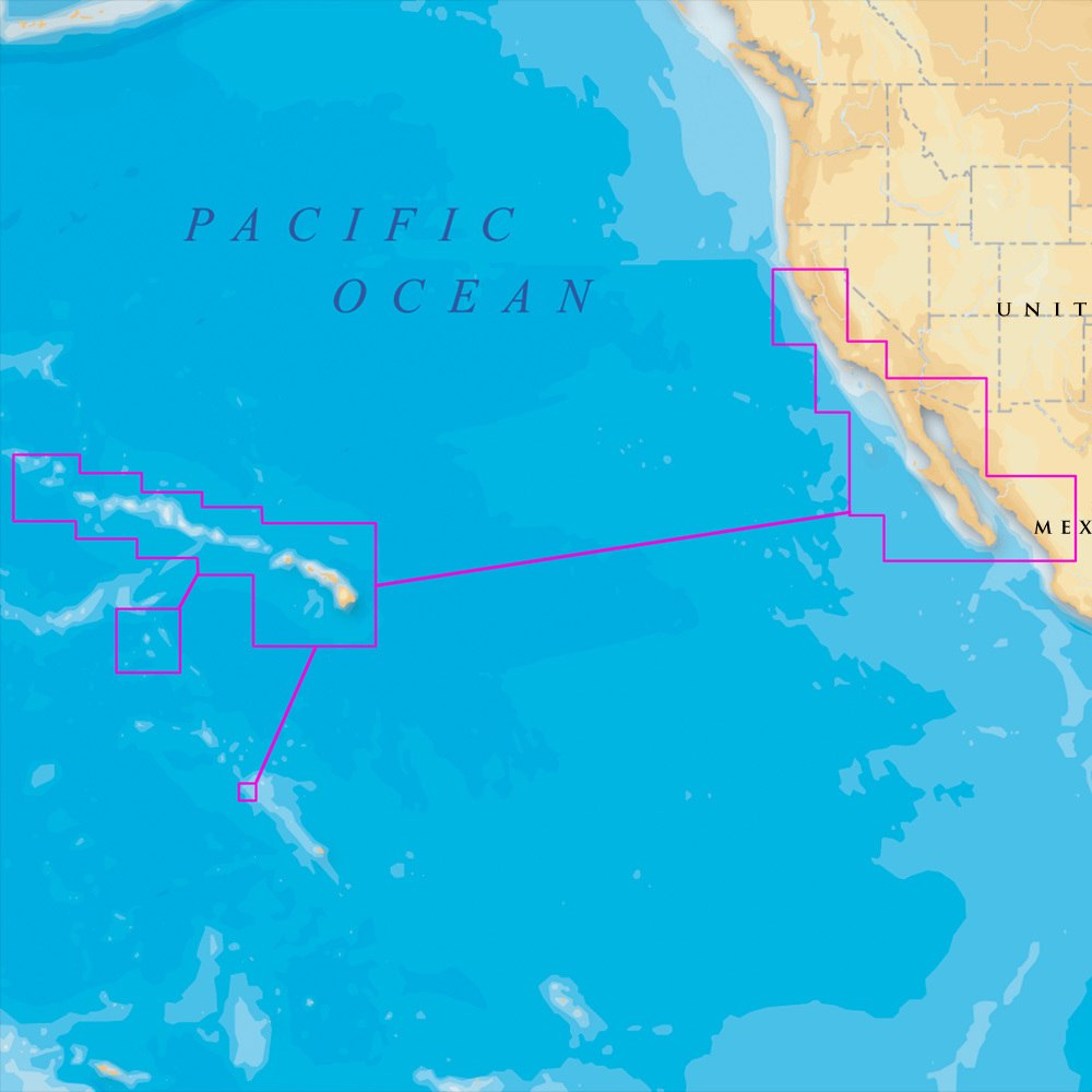 Navionics Platinum Plus Hawaii, California South to Baja on SD/Micro SD - MSD/644P+