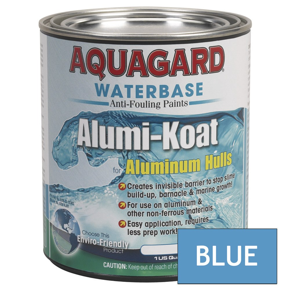 Aquagard II Alumi-Koat Anti-Fouling Waterbased - Quart - Blue - 70006