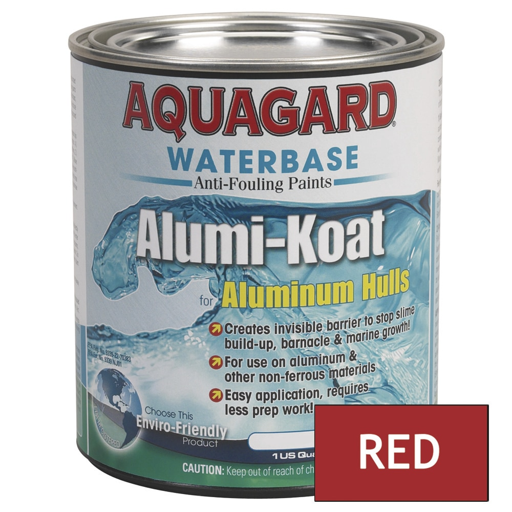 Aquagard II Alumi-Koat Anti-Fouling Waterbased - Quart - Red - 70002
