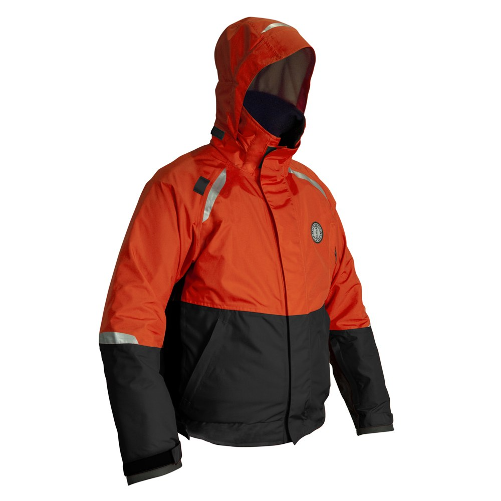 Mustang Catalyst Bomber Jacket - Small - Orange/Black - MJ5244-S-OR/BK