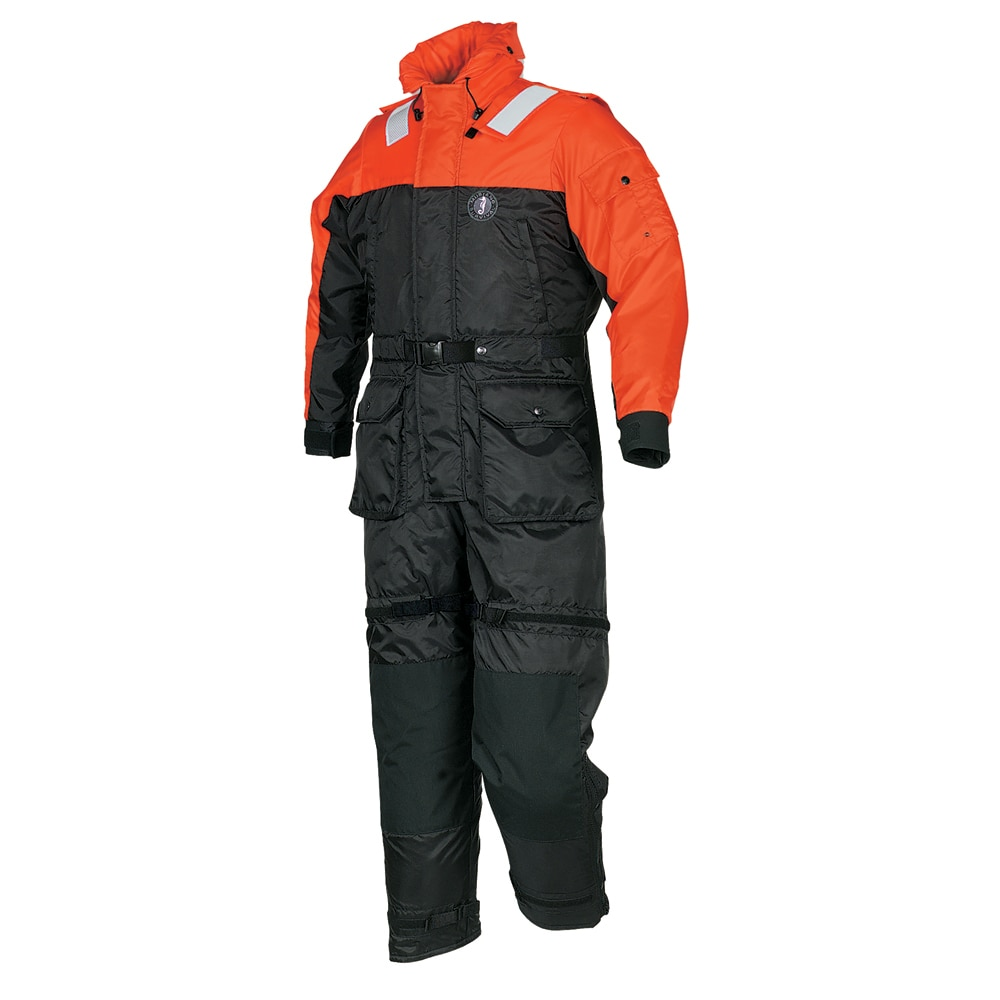 Mustang Deluxe Anti - Exposure Coverall & Worksuit - LG - MS2175-L-OR/BK