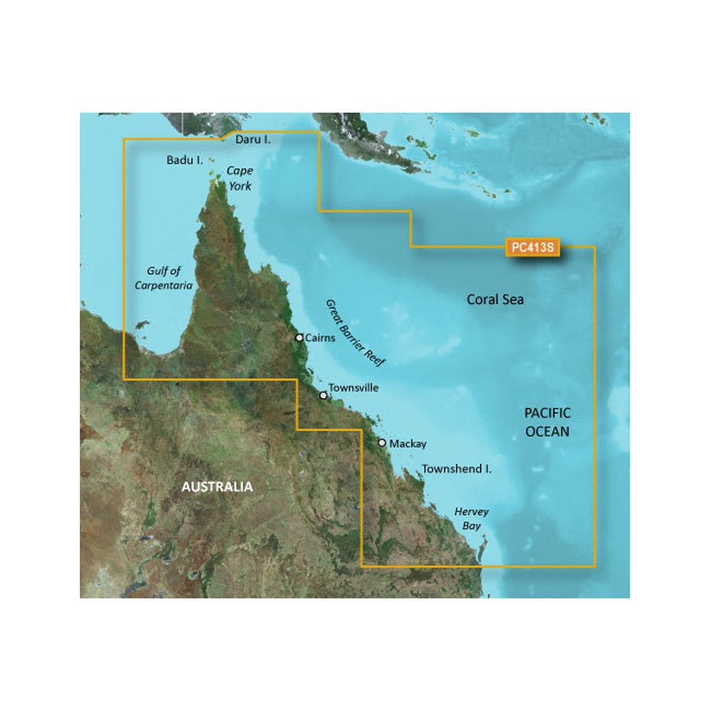 Garmin Bluechart G2 - HXPC413S - Mornington Island - Hervey Bay - MicroSD & SD - 010-C0871-20