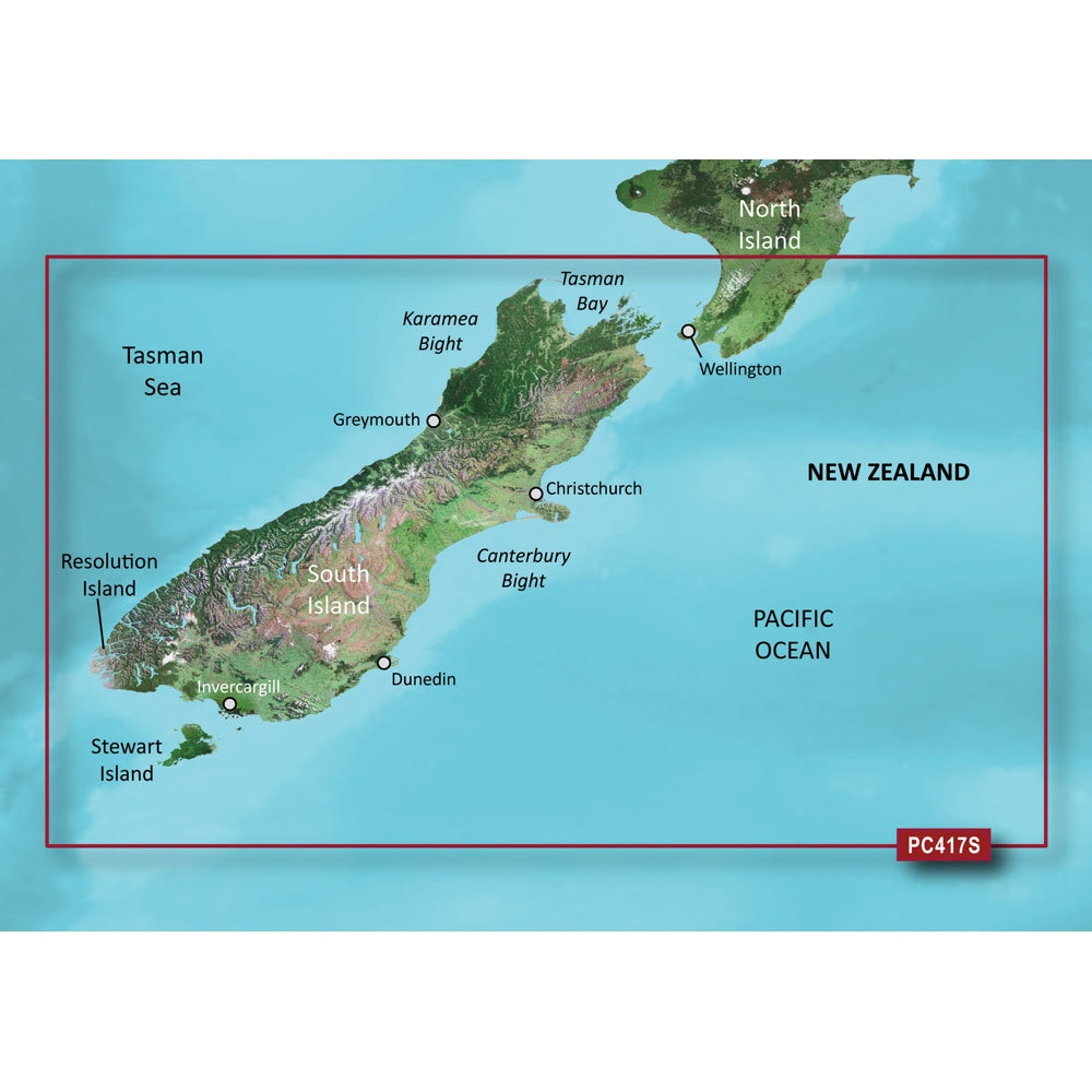 Garmin Bluechart G2 - HXPC417S - New Zealand South - MicroSD & SD - 010-C0875-20