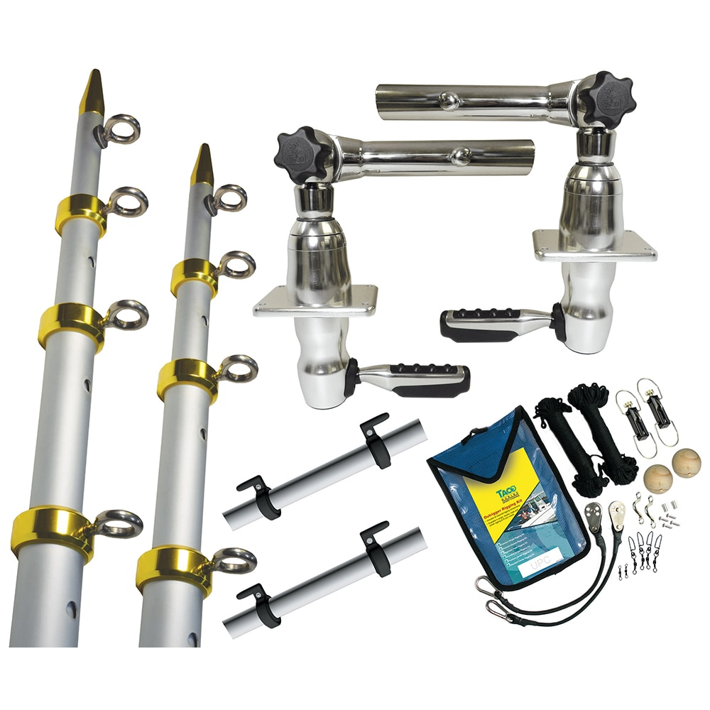 TACO Grand Slam 280 Package w/15' Silver/Gold Poles, Premium Rigging Kit & Line Caddy - GS-2841VEL-1