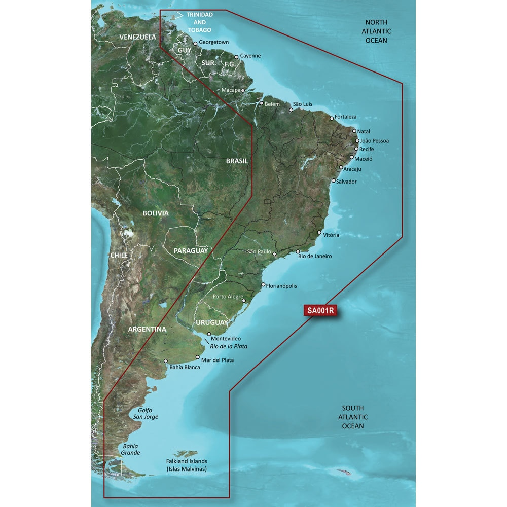Garmin BlueChart G2 HXSA001R South America East Coast MicroSD/SD - 010-C1062-20