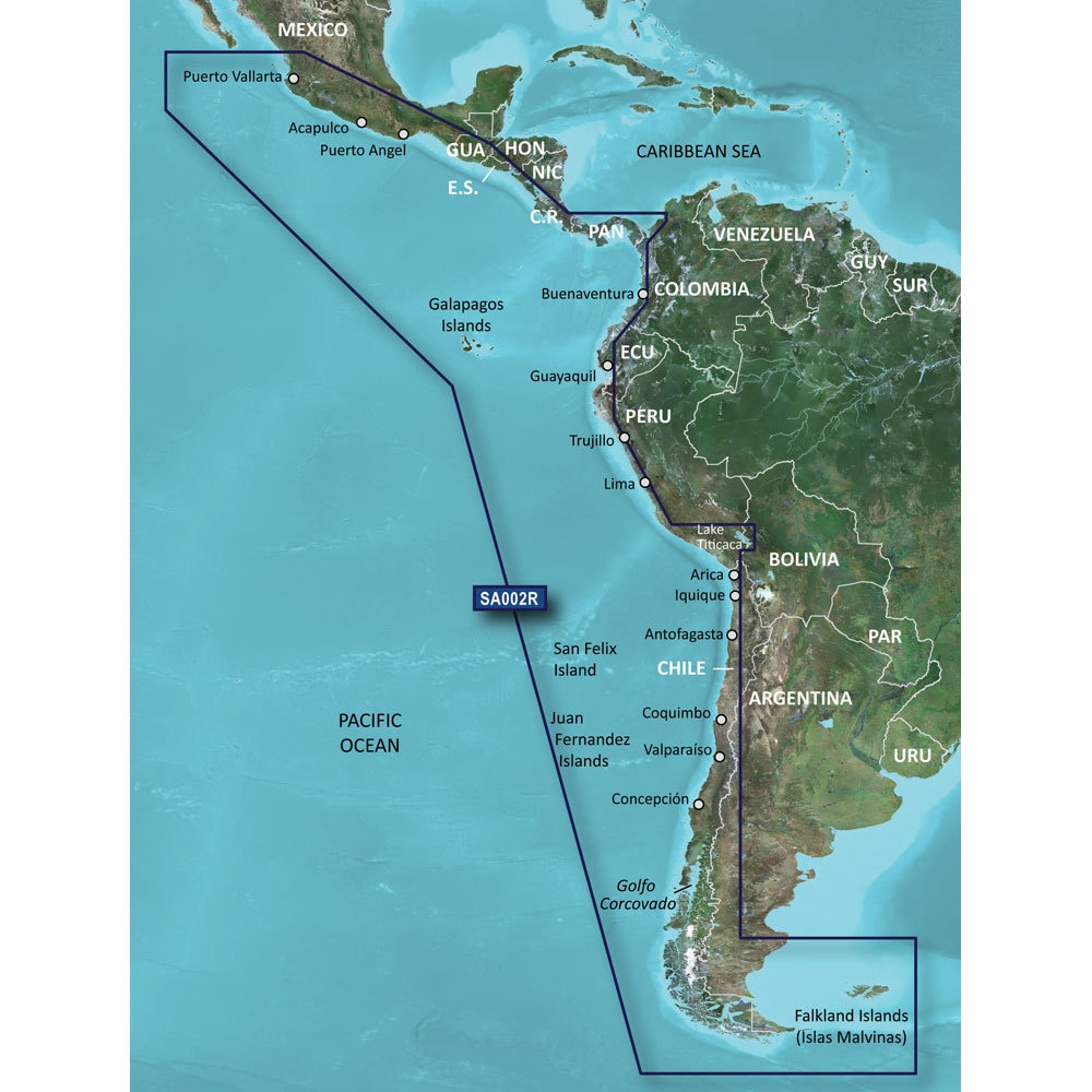 Garmin BlueChart G2 HXSA002R South America West Coast MicroSD/SD - 010-C1063-20