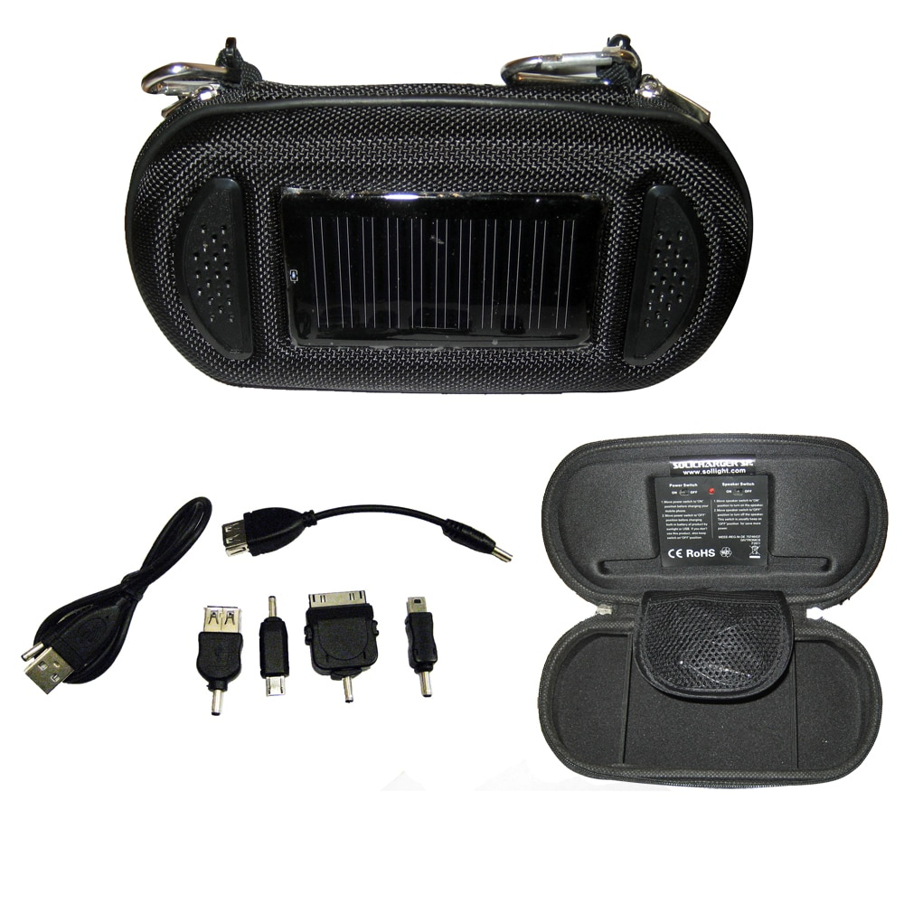 Davis SoliCharger-SP - Universal Solar Charger with Speakers - 3480