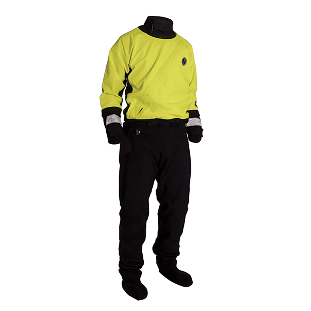 Mustang Water Rescue Dry Suit - LG - Yellow/Black - MSD576-L