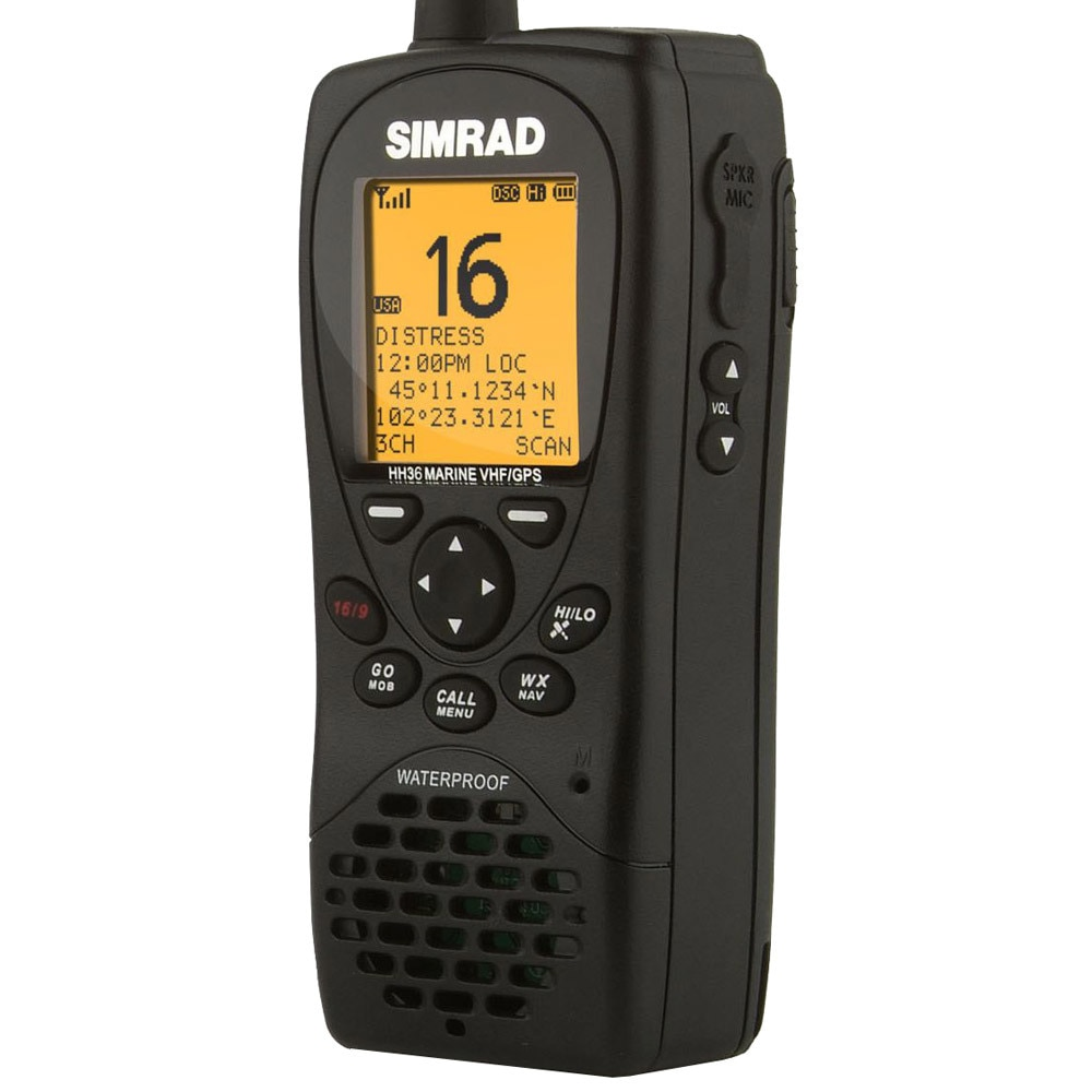 Simrad HH36 VHF Handheld w/Built-in GPS - Class D DSC - 000-10785-001