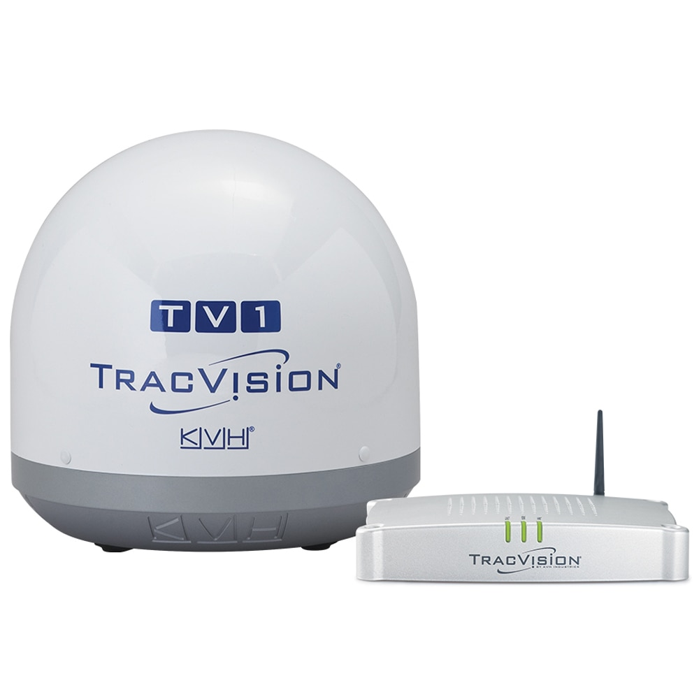 KVH TracVision TV1 Satellite TV Antenna with Circular LNB for North America - 01-0366-07