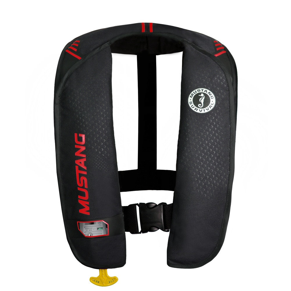 Mustang MIT 100 Inflatable Manual PFD - Black/Red - MD2014/02-BK/RD