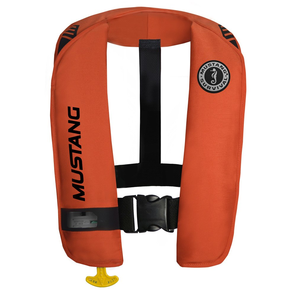 Mustang MIT 100 Inflatable Automatic PFD with Reflective Tape - Orange - MD2016/T1