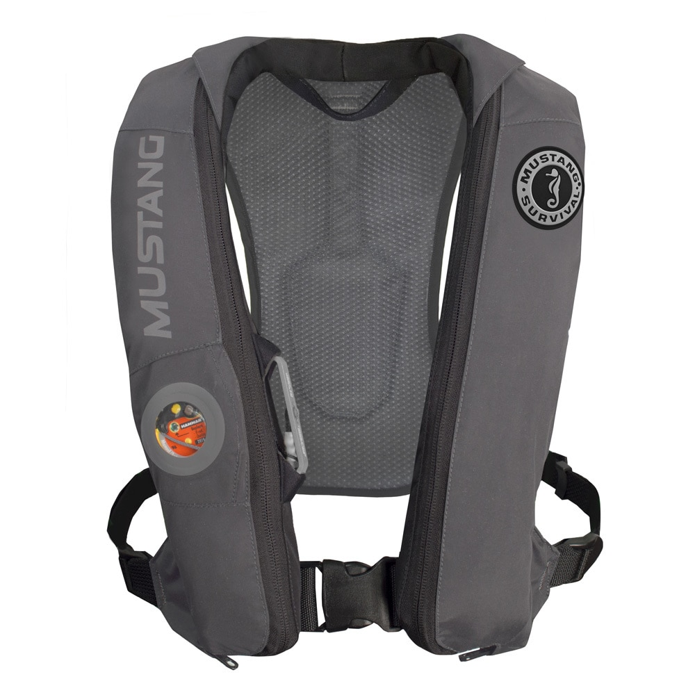 Mustang Elite Inflatable Automatic PFD - Gray - MD5183-GR