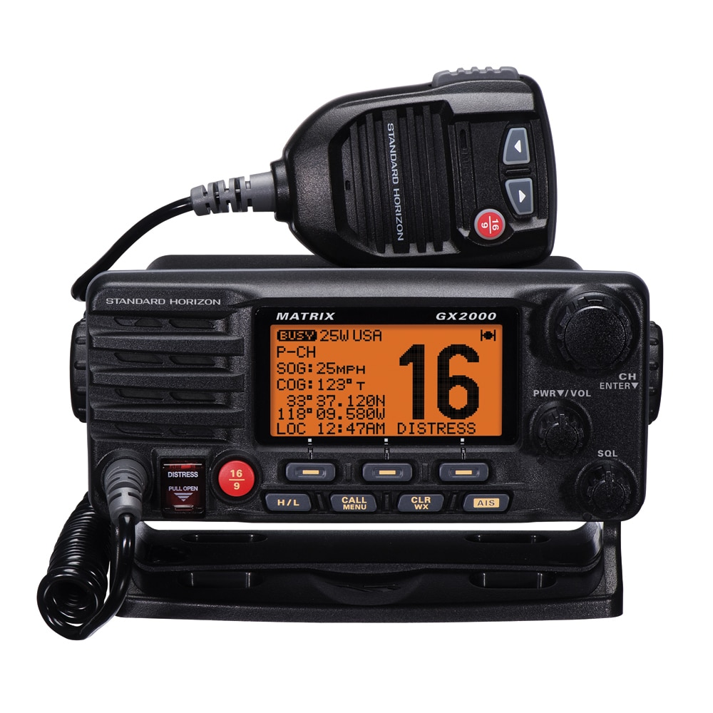 Standard Horizon Matrix GX2000 VHF with  Optional AIS Input 30W PA - GX2000B