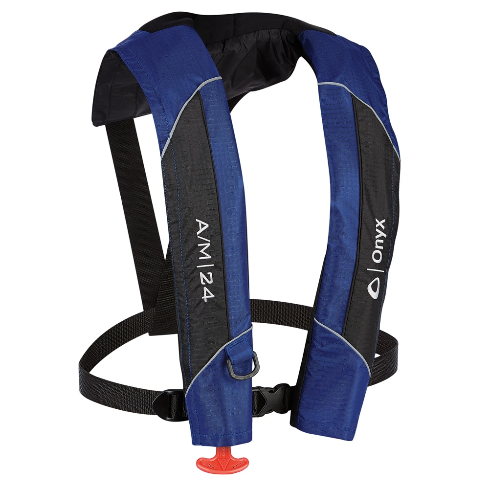 Onyx A/M-24 Automatic/Manual Inflatable PFD Life Jacket - Blue - 132000-500-004-15