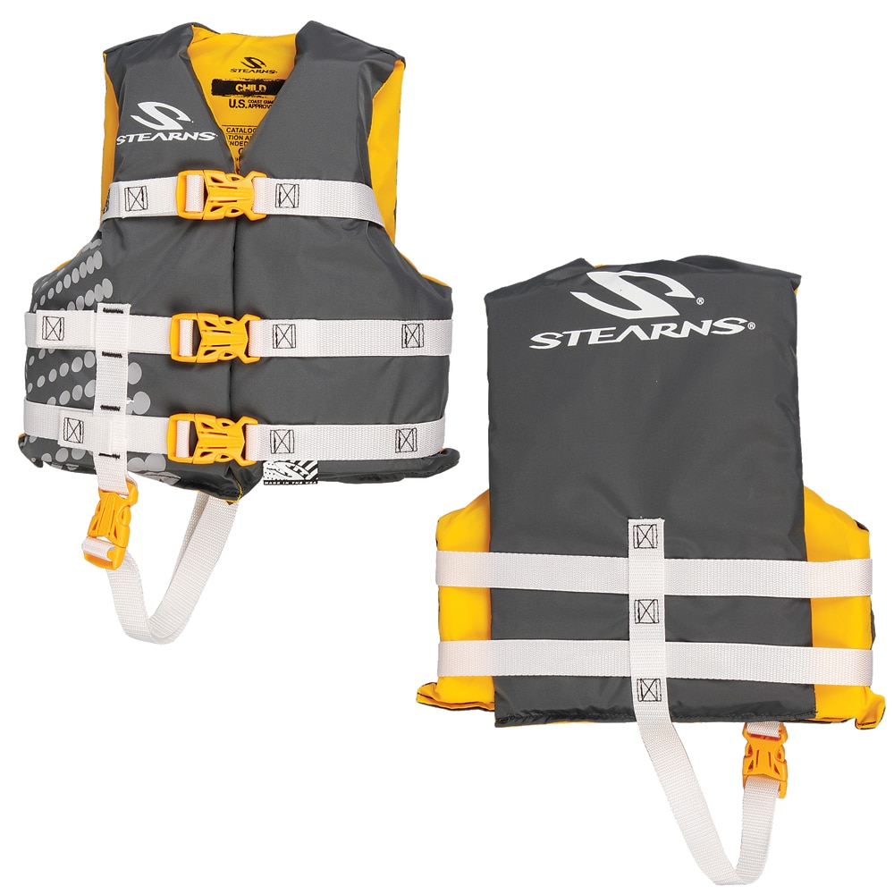 Stearns Child Classic Nylon Vest Life Jacket - 30-50lbs - Gold Rush - 3000002197
