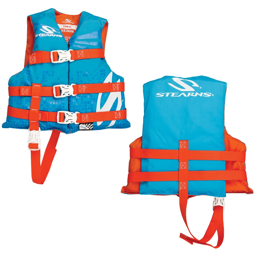 Stearns Child Classic Nylon Vest Life Jacket - 30-50lbs - Abstract Wave - 3000002196