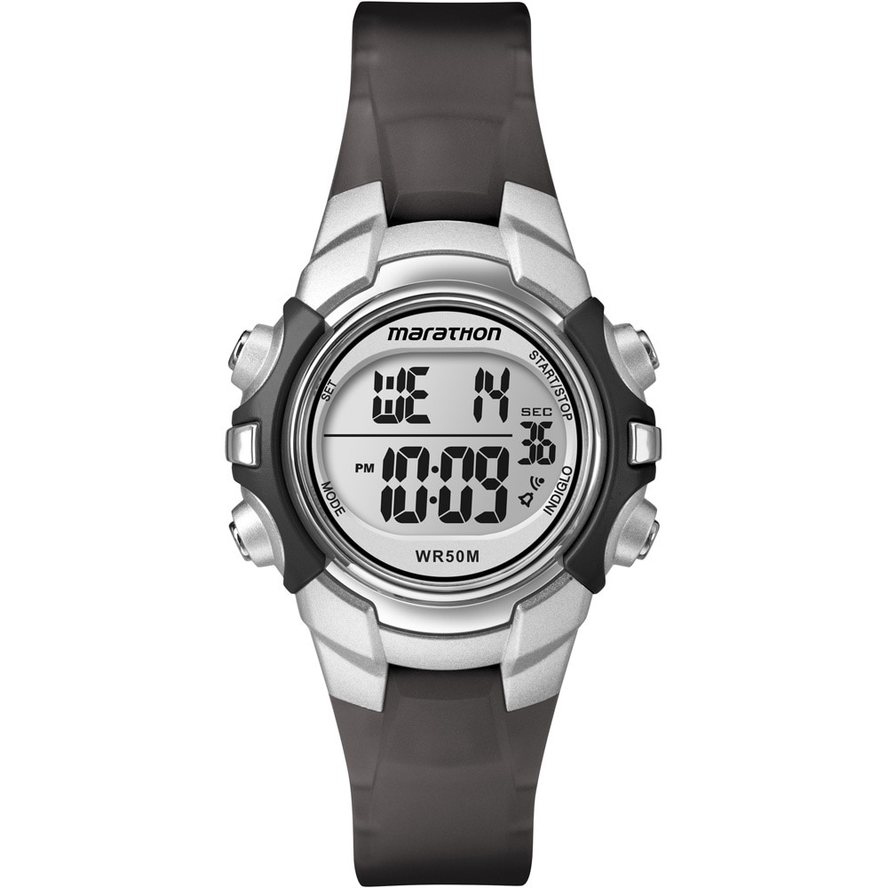 Timex Marathon Digital Mid-Size Watch - Black/Silver - T5K805
