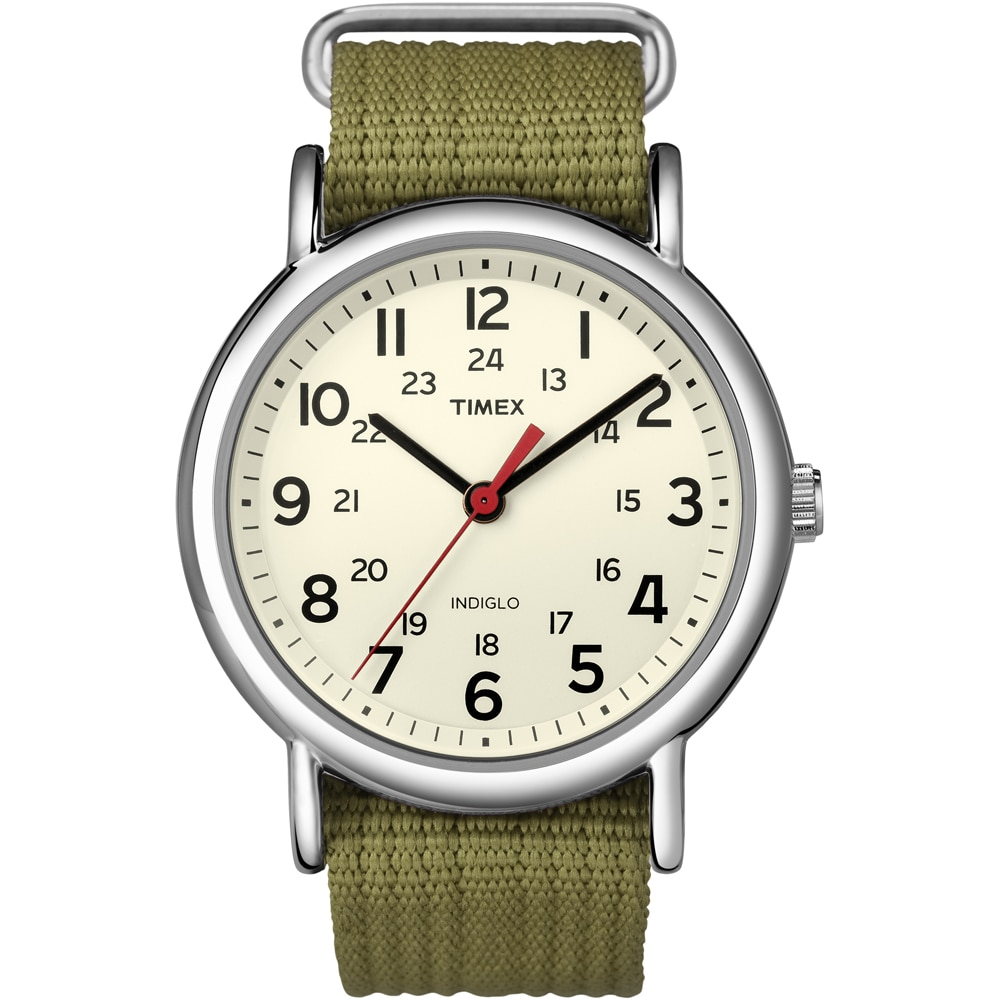 Timex Weekender Slip-Thru Watch - Olive Green - T2N651