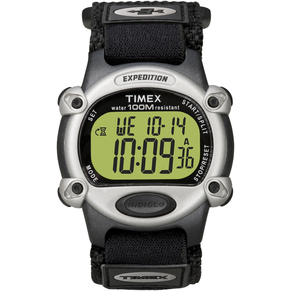 Timex Expedition Mens Chrono Alarm Timer Silver/Black - T48061