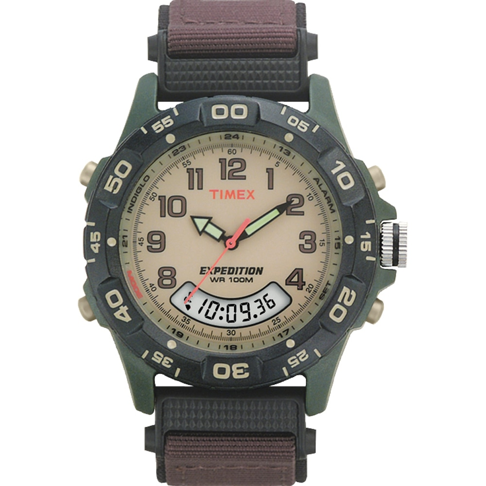Timex Expedition Resin Combo Classic Analog Green/Black/Brown - T45181