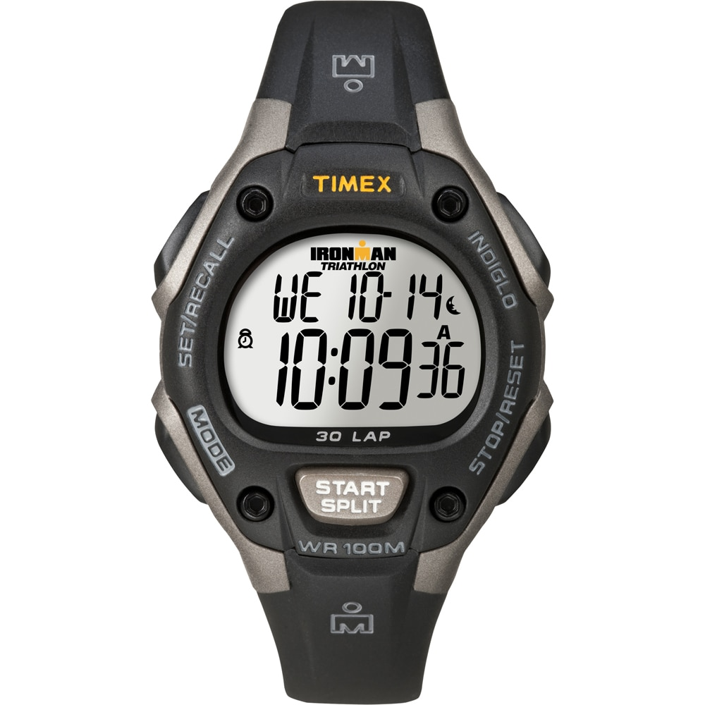 Timex Ironman Triathlon 30 Lap Mid Size Grey/Black - T5E961