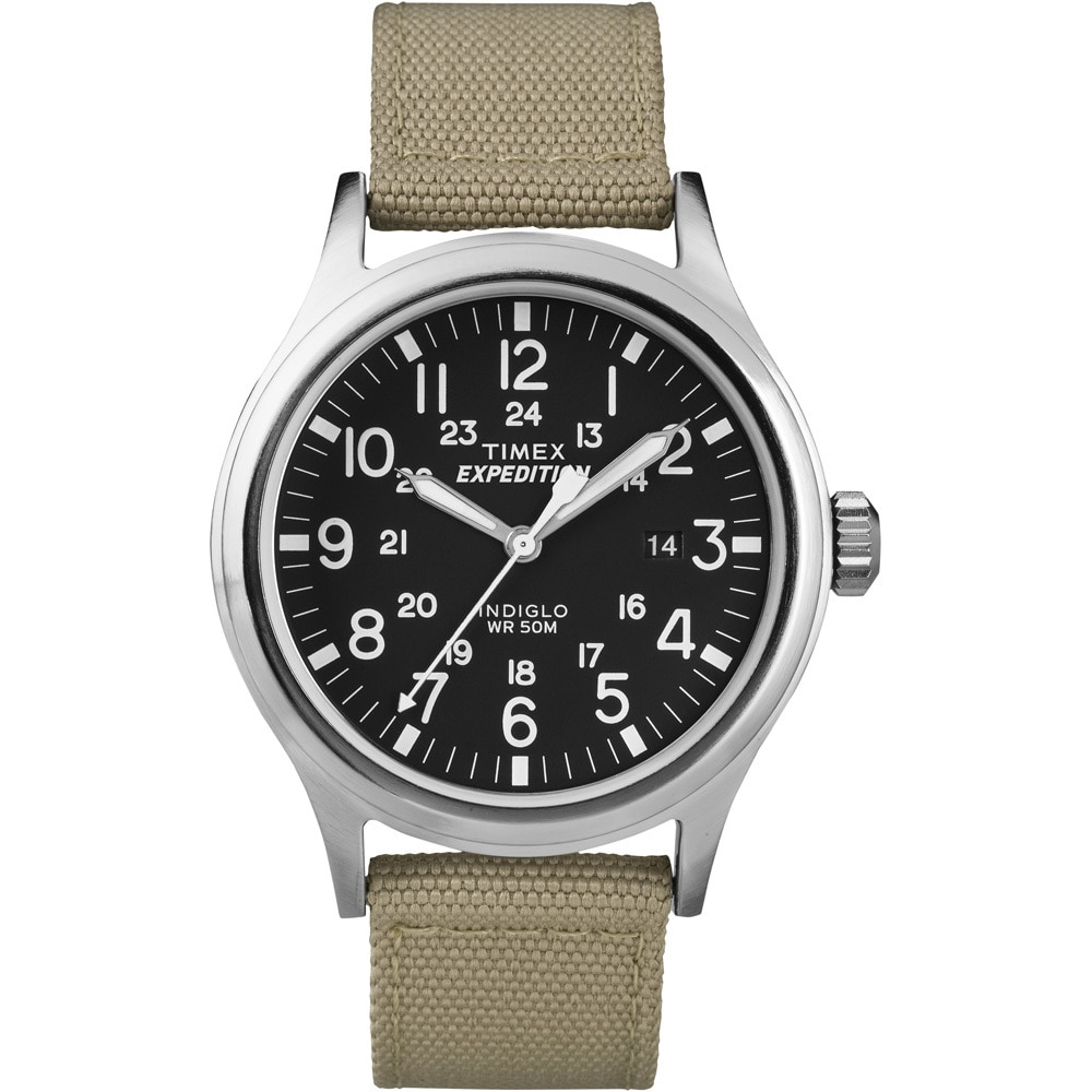 Timex Expedition Scout Metal Watch - Khaki/Black - T49962