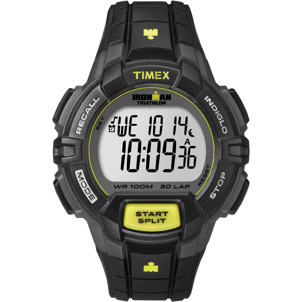 Timex Ironman 30-Lap Rugged Full-Size Watch - Black/Lime - T5K790