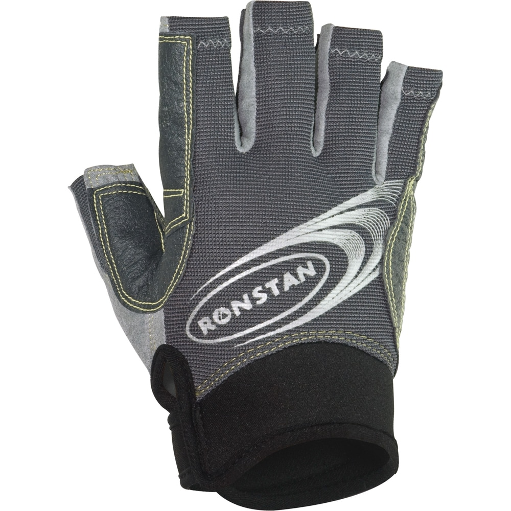 Ronstan Sticky Race Gloves with Cut Fingers - Grey - X-Small - RF4880XS