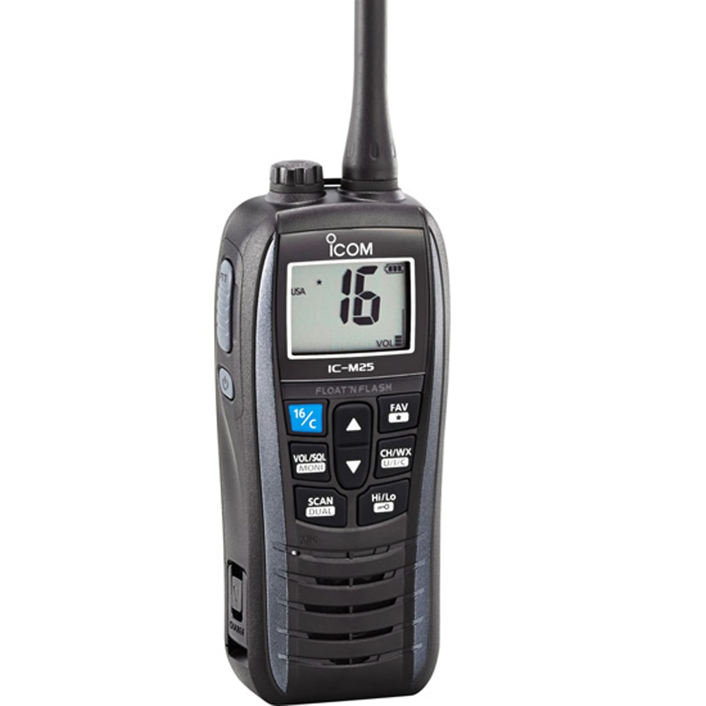 Icom M25 Floating VHF Handheld Radio - Metallic Gray