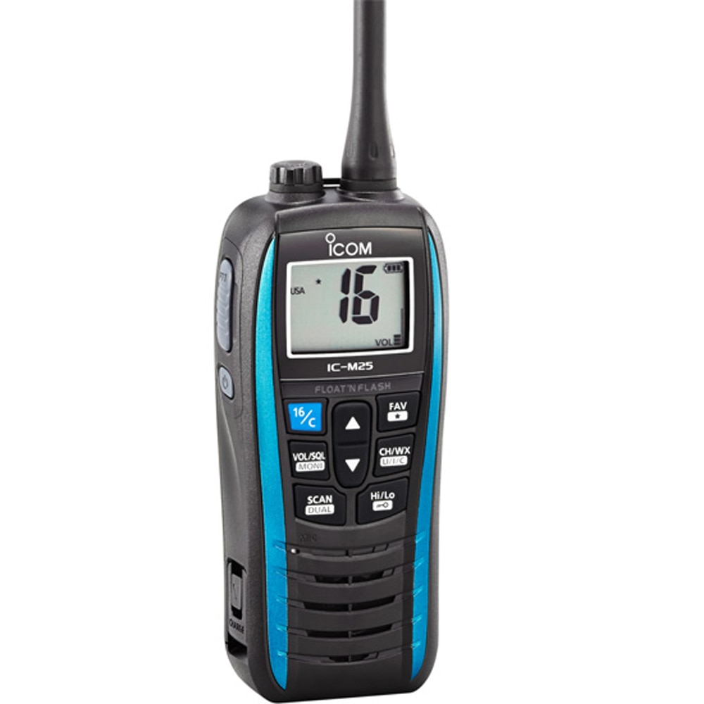 Icom M25 Floating VHF Handheld Radio - Marine Blue