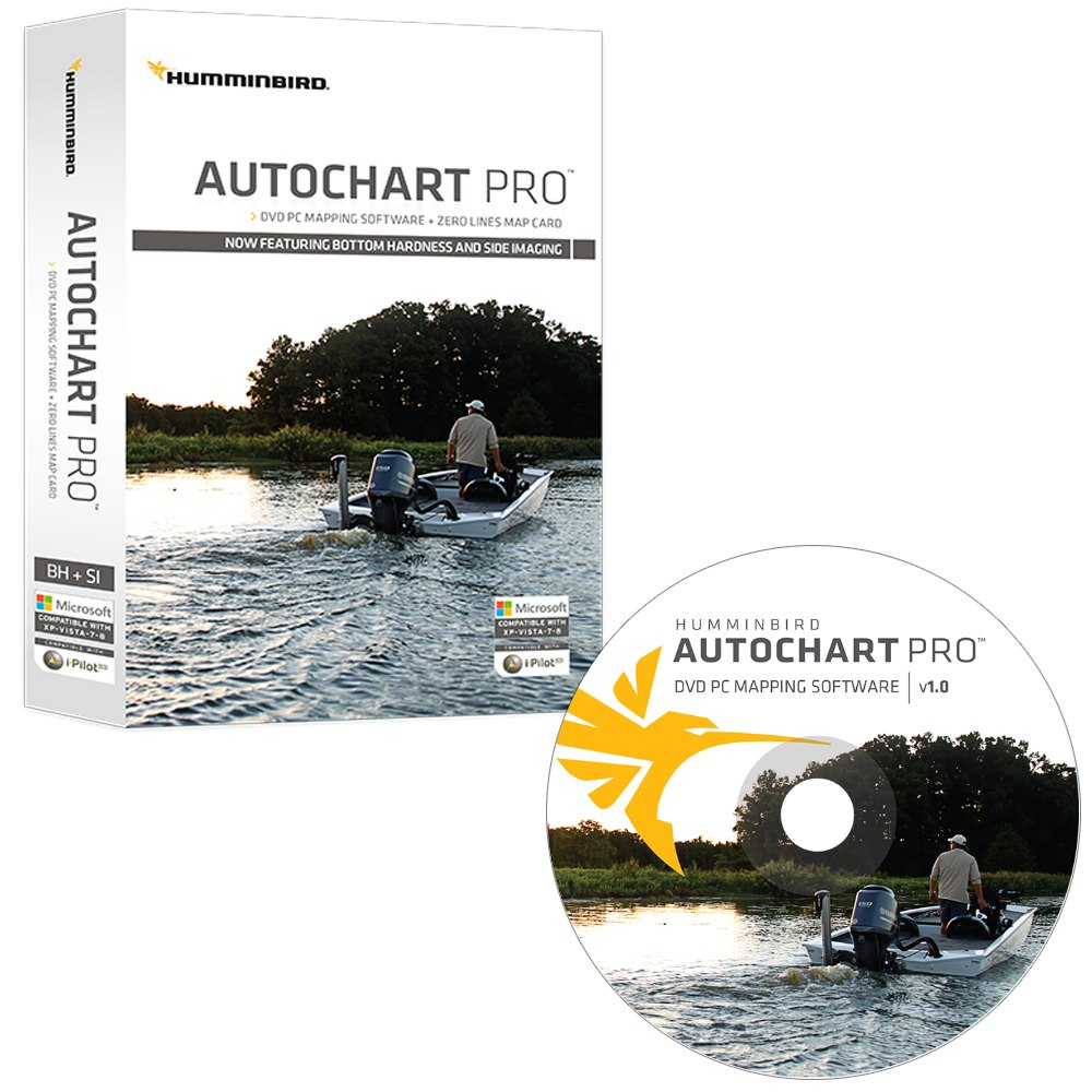 Humminbird AutoChart PRO DVD PC Mapping Software with Zero Lines Map Card - 600032-1