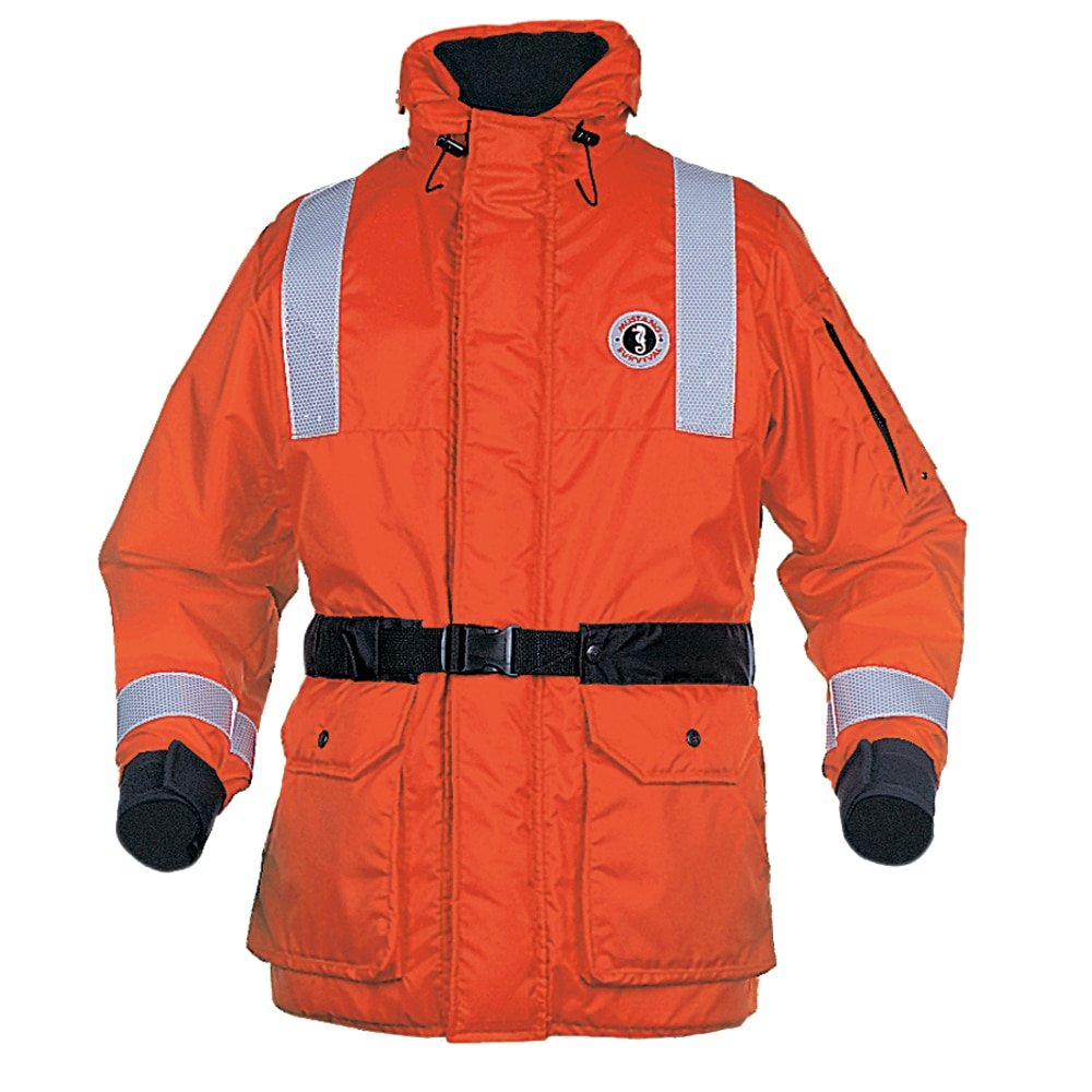 Mustang ThermoSystem Plus Coat - XL - Orange/Black - MC1534GS-XL-OR