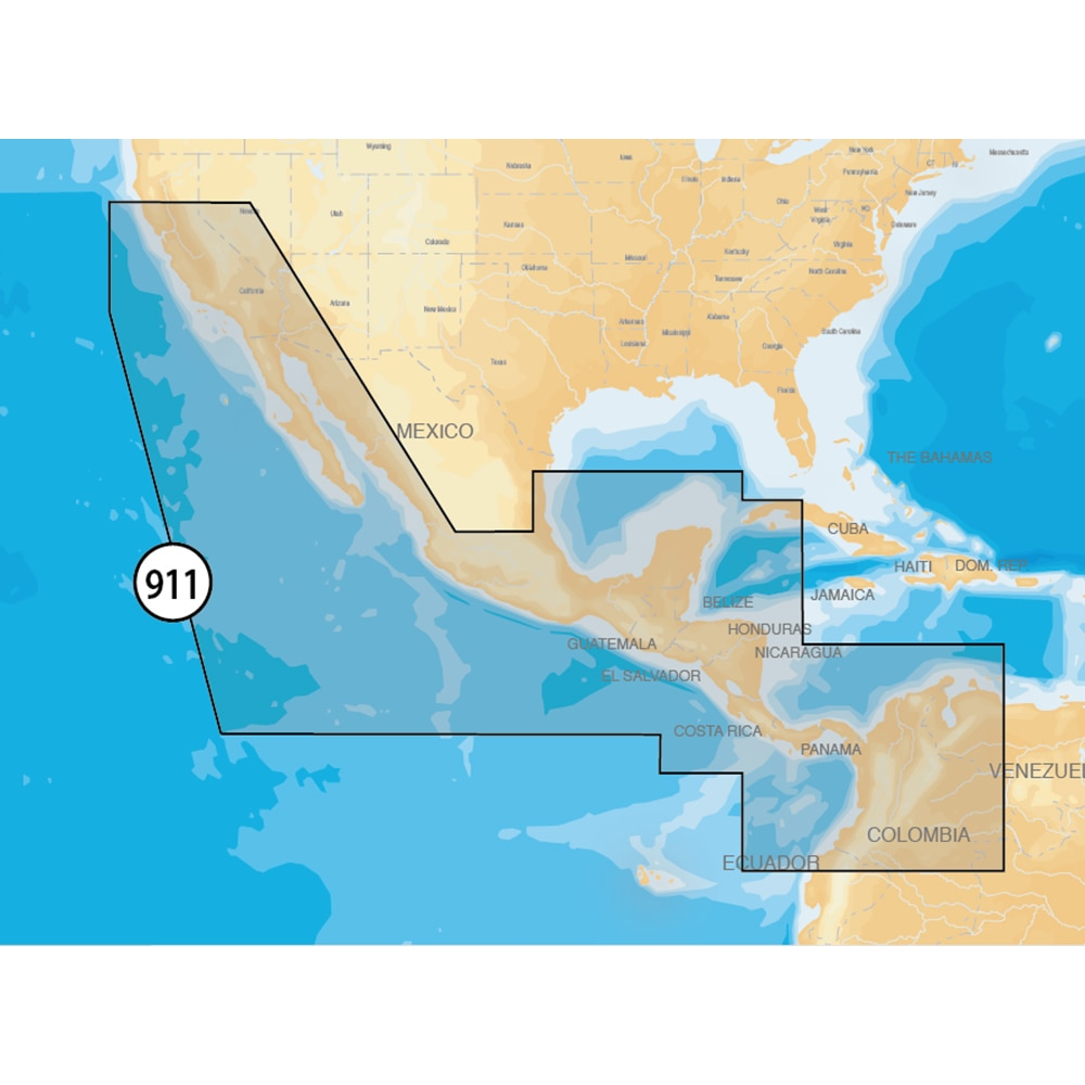 Navionics Platinum+ Mexico/Central America on SD/microSD - MSD/911P-2