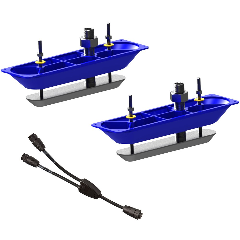 Navico StructureScanHD Sonar Stainless Steel Thru-Hull Transducer (Pair) with Y-Cable - 000-11460-001