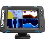 Lowrance Elite-5 Ti  Chartplotter/Fishfinder with C-MAP Pro charts & Downscan Transom Mount Transducer - 000-12421-001