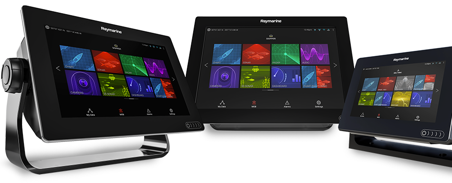 Raymarine Axiom, Axiom Pro, and Axiom XL Multifunction Displays