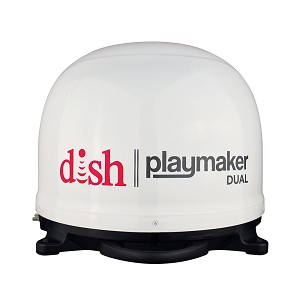 Winegard DISH Playmaker Dual Gen2 Portable Satellite TV Antenna - White Dome - PL-8000