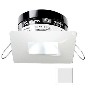 i2Systems Apeiron PRO A503 - 3W Spring Mount Light - Square/Square - Cool White - White Finish - A503-34AAG