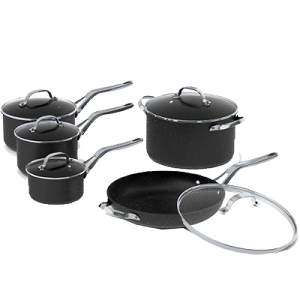 Starfrit The Rock 10-Piece Set w/ SS Handles - 060319-001-0000