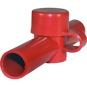 Blue Sea 4003 Cable Cap Dual Entry - Red - 4003