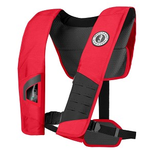 Mustang DLX 38 Deluxe Manual Inflatable PFD - Red/Black - MD2981-123